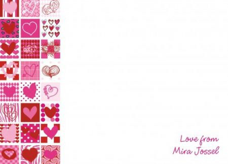 Left hearts red & pinks