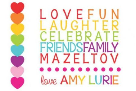 Mazeltov love fun laughter