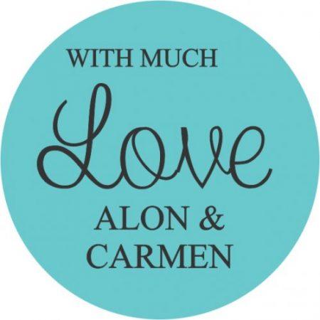 Love round aqua