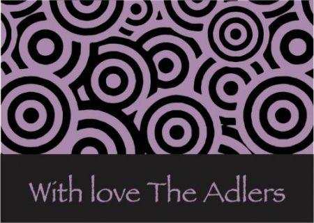 Concentric circles purple