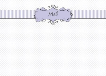 Frame on lilac dots