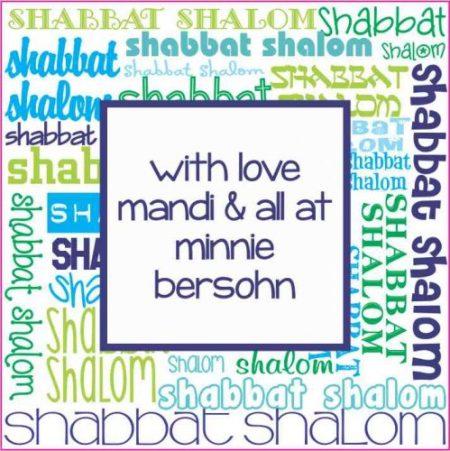 Shabbat Shaloms blue & green