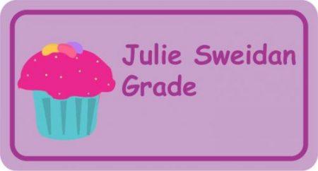 Cupcake on lilac