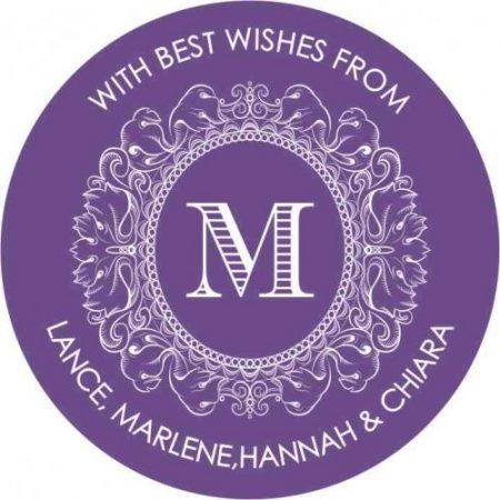 Monogram round purple