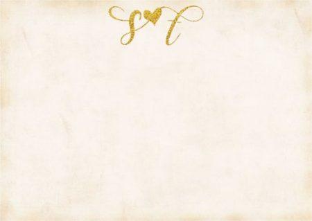 Glitter initials heart Gold