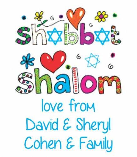 Shabbat Shalom funky letters