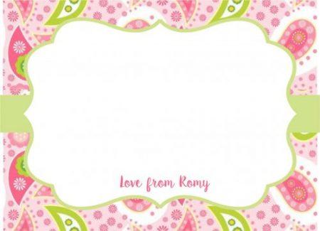 Paisley lime n pink