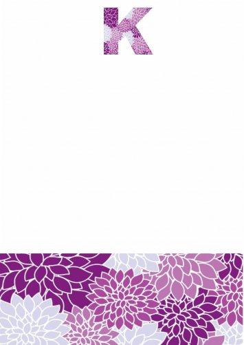 Flowers purples initial