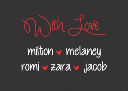 With love rectangle red