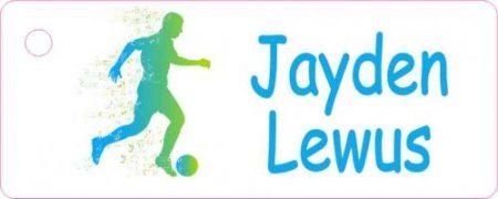 Soccer silhouette green blue