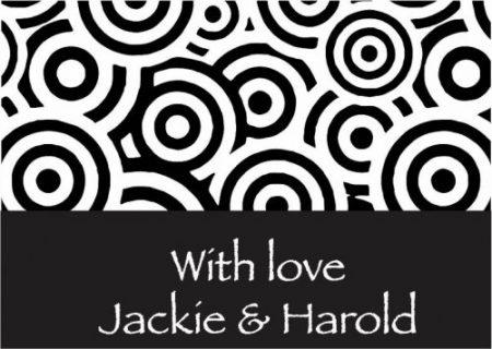 Concentric circles black & white