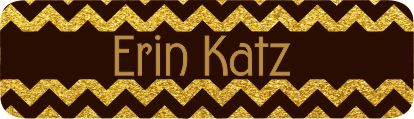 Glitter chevron gold & black