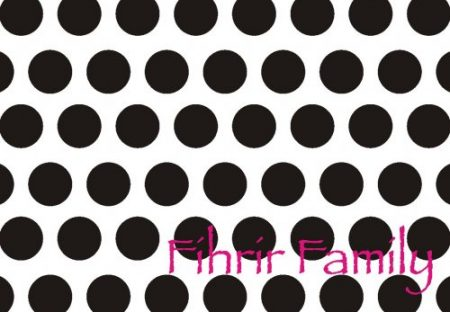 Dots black on white