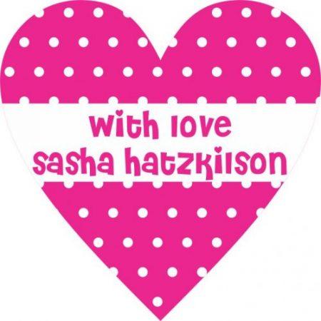 Heart polka dots pink