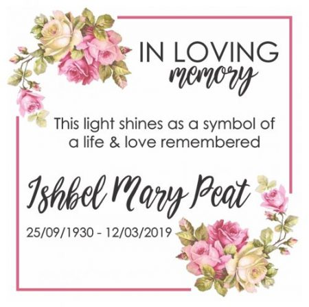 Sticker memorial candle