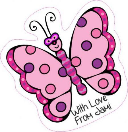 Butterfly shapie pink