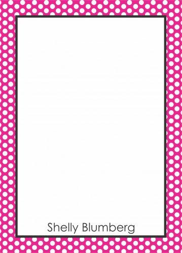 Border mini dots pink