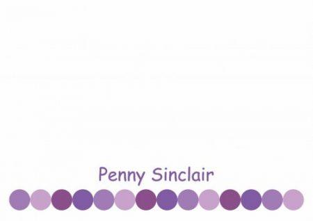 Row of dots purple