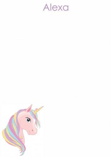 Unicorn rainbow hair