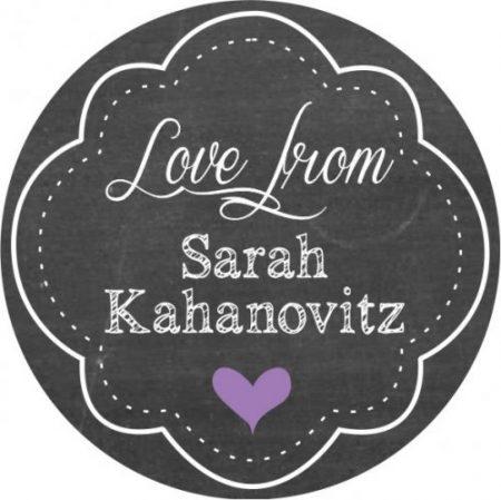 Round frame purple heart