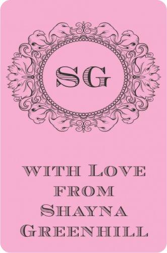 Monogram frame on pink