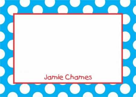 Border dots blue & red
