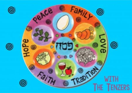 Pesach seder plate bright