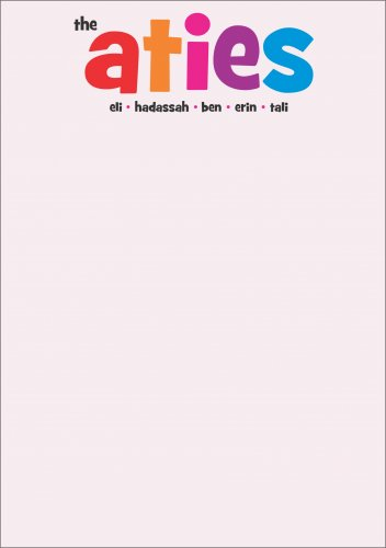 Fun font on pink