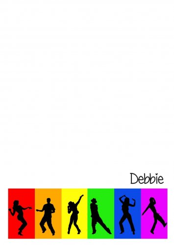 Disco rainbow silhouettes