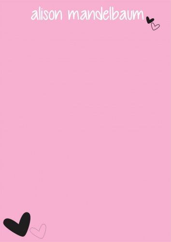 Pink with heart