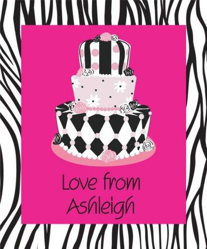 Cake on zebra print