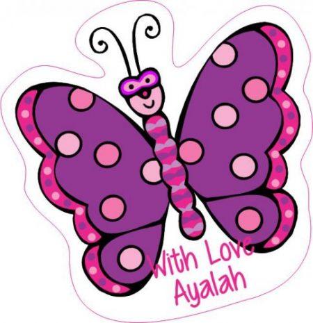 Butterfly shapie purple