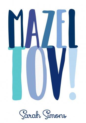 Mazeltov letters blue