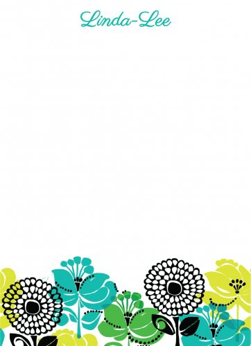 Flowers black n greens