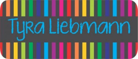 Chalkboard stripes rainbow