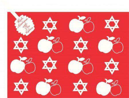 RH apples & stars on red
