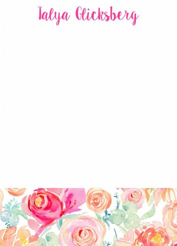 Watercolour flowers bottom