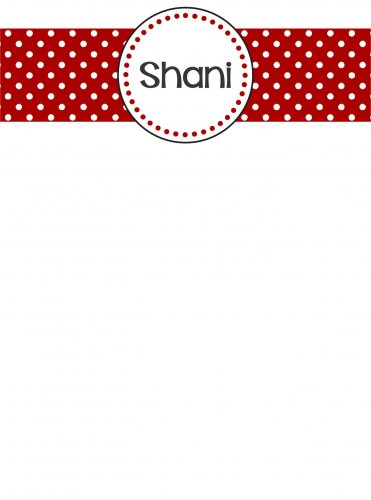 Name on dots red