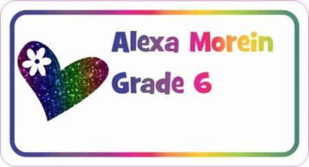Heart glitter rainbow