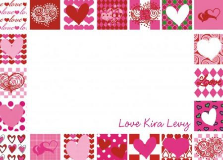 Border hearts pinks & reds