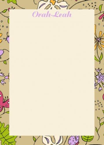 Border flowers cream