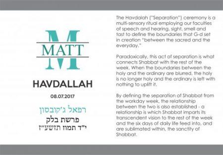 Havdallah cards