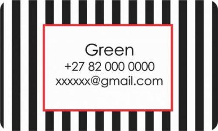 Stripes black & white red border