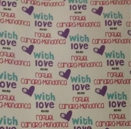Heart from purple & aqua