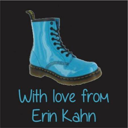 Boot blue on black