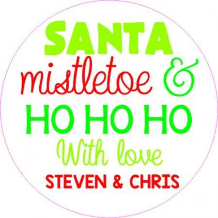 Santa mistletoe & ho ho ho white