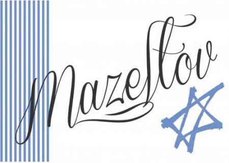 Mazeltov stripes blue