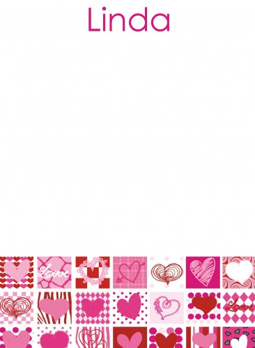 Hearts pinks & reds