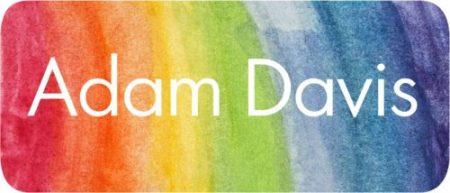 Watercolour stripes rainbow