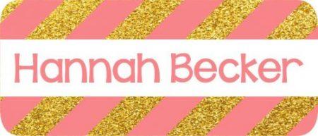 Glitter stripes gold & peach